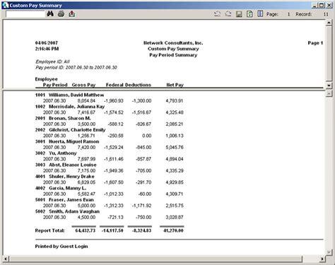 salary summary template 21st century accounting create custom pay summary reports