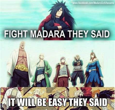 naruto memes fight madara they said it would be easy