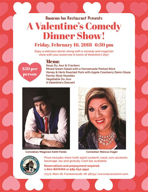 valentines day comedy a s comedy dinner show bavarian inn