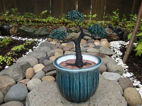 Bonsai Tree Planters bonsai tree medium blue ceramic planter sculpture by