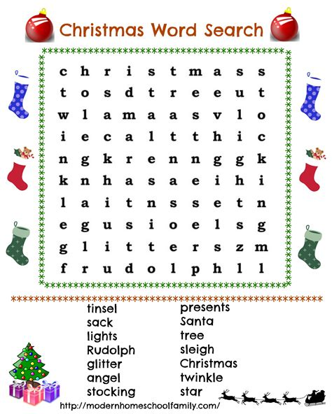 free printable christmas word search activities free printable christmas word search modern homeschool
