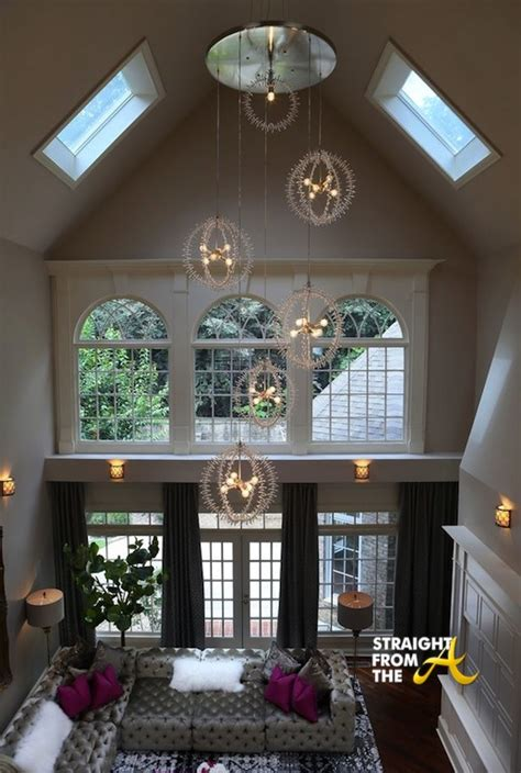 Chandelier 12 Lights A Peek Inside Kandi Burruss Atlanta Home Photos