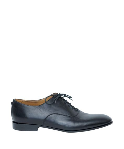 valentino oxford shoes valentino studded oxford shoes in black for lyst