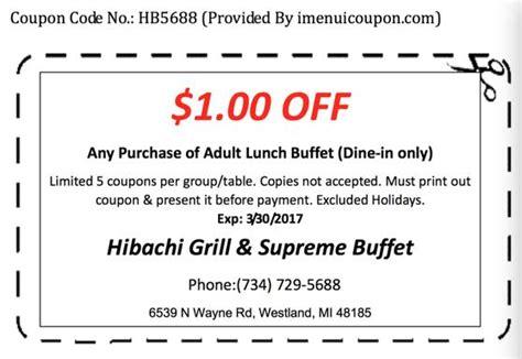 hibachi buffet coupons hibachi grill and buffet coupon 1 1 50