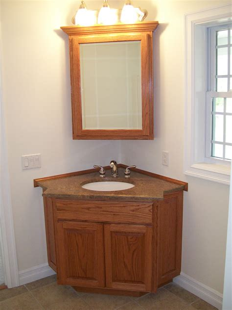Bathroom Corner Vanity Cabinets Corner Bathroom Vanity Units For Your Bath Storage Solution Traba Homes