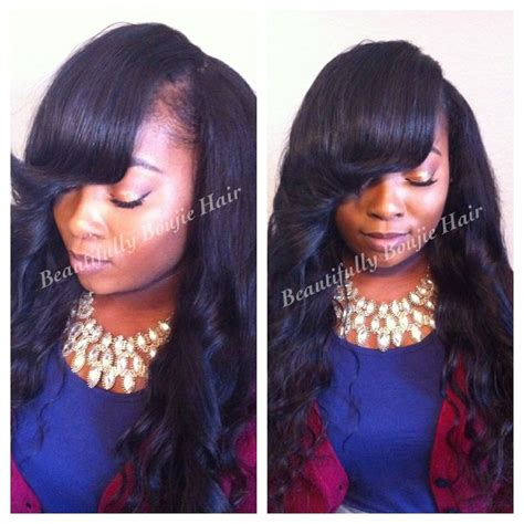black african american sew ins trad sew in installation small leave out deep bang best
