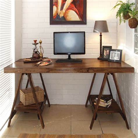 Diy Trestle Desk Home Dzine Home Diy How To Make A Trestle Desk