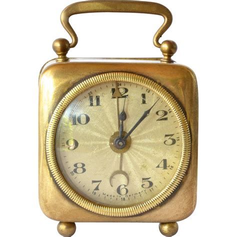 traveller s alarm clock brass 1930 1940 from caraghantiques on ruby