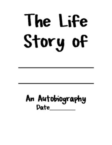 Autobiography Notes, Cover Page & Grade Sheet (7