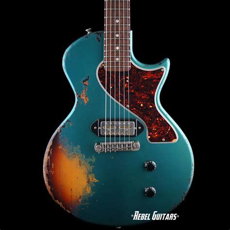 rock n roll relics rebel guitars rock n roll relics thunders sc in ocean turquoise over