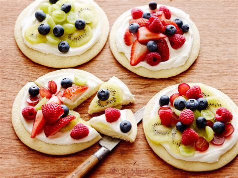 fruity recipes easy entertaining dinner party recipes fruit pizzas