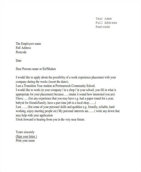 job experience letter format templates