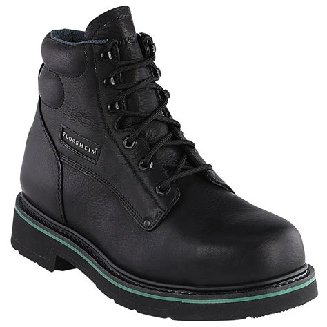 toe boots mens s florsheim 174 6 quot steel toe classic boot black 123051