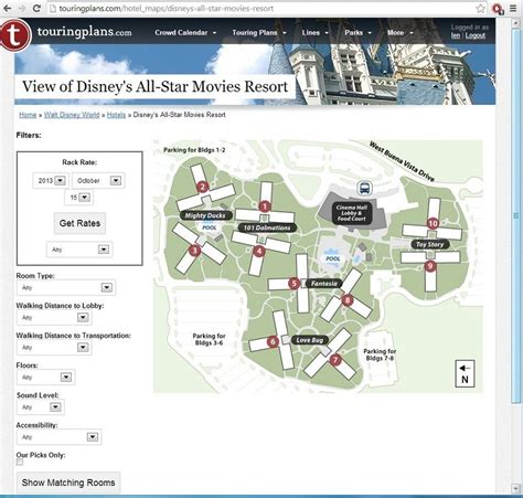 all resort map preferred rooms sneak peek picture the view from every all room touringplans