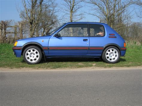 pug 205 gti for sale 1990g peugeot 205 gti 1 9 miami blue limited edition for sale