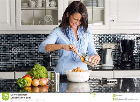 making dinner stock image image of attractive opener 6528465