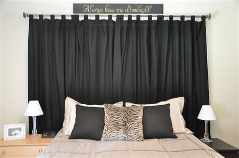 Curtains Headboard by Curtains As A Headboard 3 Flickr Photo