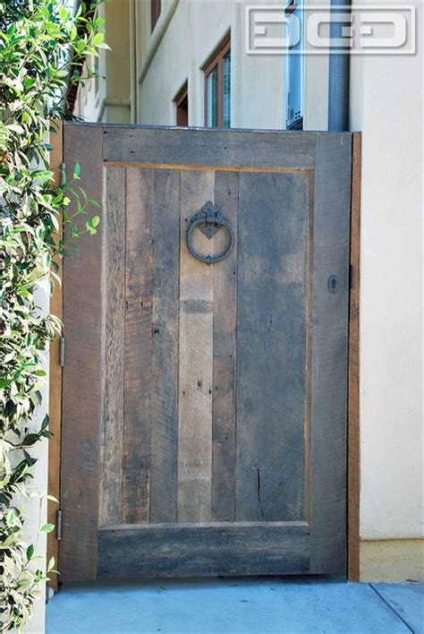 barn wood rustic architectural side entry gates