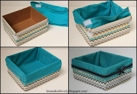 how to put a box together let s make it lovely upcycled fabric basket
