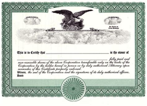 bond certificate template home corporate kits seals and sts stock sertificates