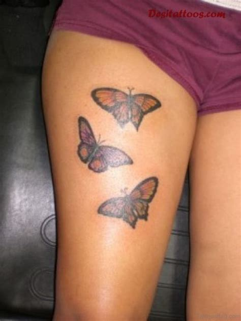 tattoo on thigh 71 pretty butterfly tattoos on thigh