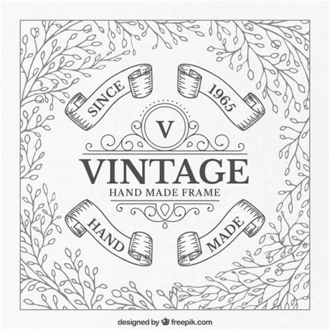 imagenes vintage blanco y negro para imprimir marco vintage hecho a mano en blanco y negro descargar