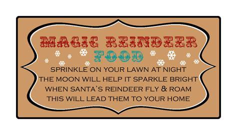 reindeer food printable gift tags juneberry lane magical reindeer food