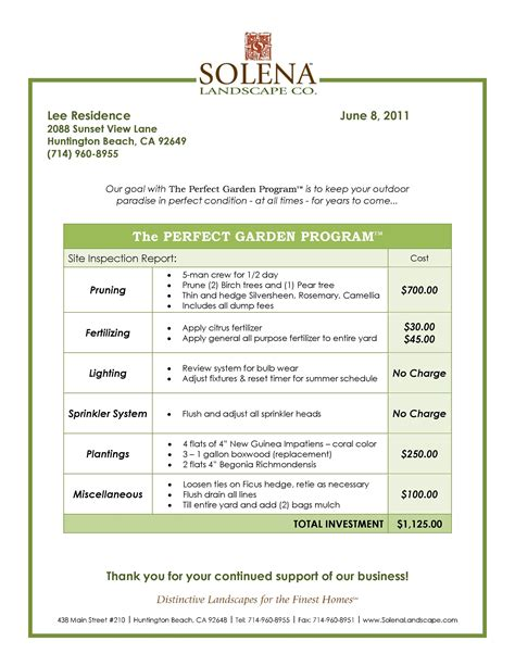 lawn care contract printable templates joy studio design