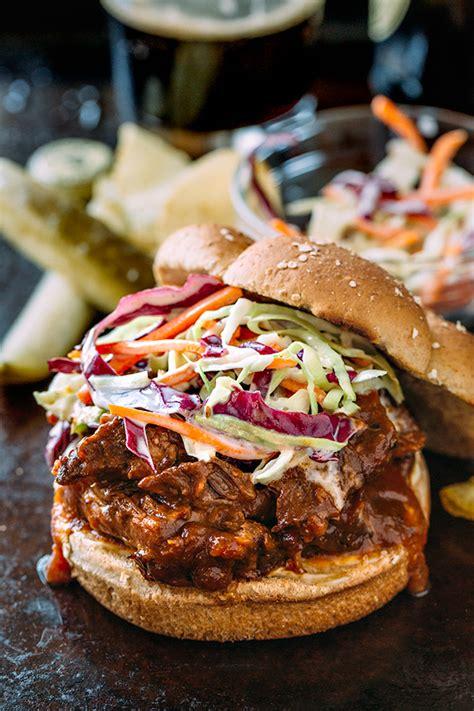 short rib sandwich braised bbq short rib sandwich with creamy coleslaw