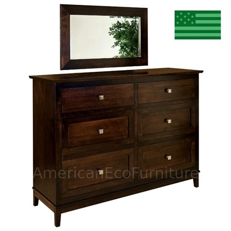 solid wood dresser made in usa amish maarten 6 drawer dresser solid wood made in usa