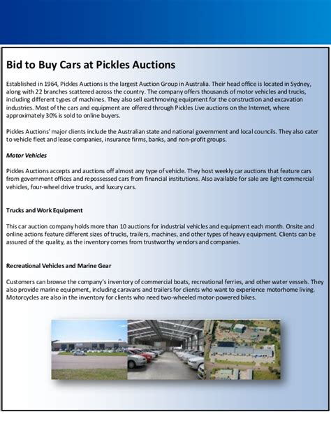 bid to buy bid to buy cars at pickles auctions