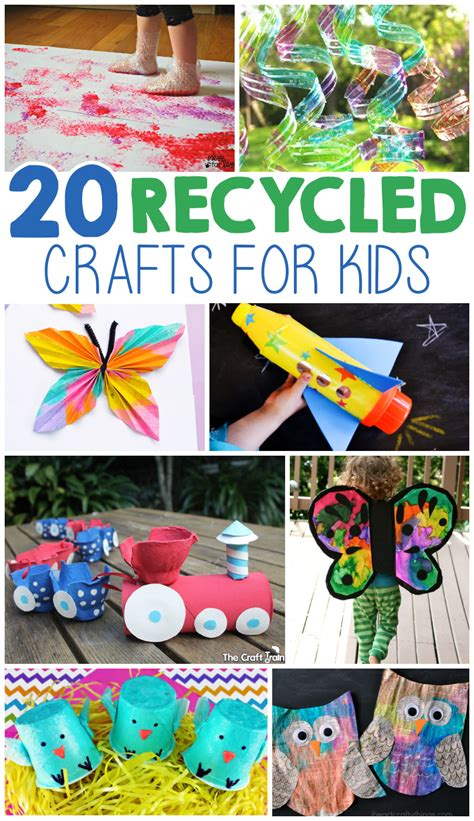 recycled arts and crafts for 20 crafts from recycled materials craft activities
