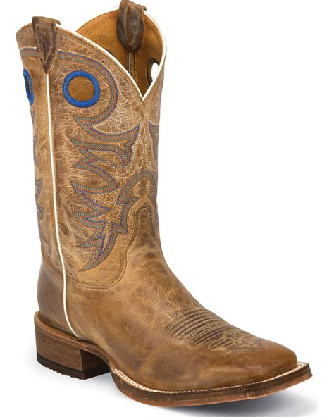 justin s bent rail cowboy boots square toe country