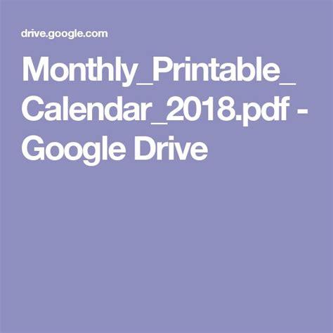 Drive Calendar Planner 57 Best Calendar Images On Calendar 2018