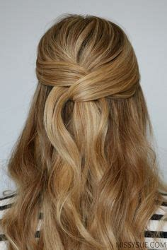casual shaggy hairstyles done with curlingwands pics for gt half up half down hairstyles medium length hair