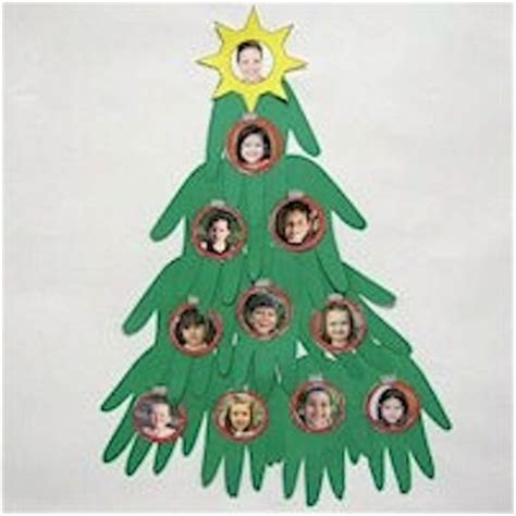 christmas tree crafts for preschool using handprint handprint crafts