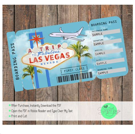 printable cruise tickets printable ticket to las vegas boarding pass surprise