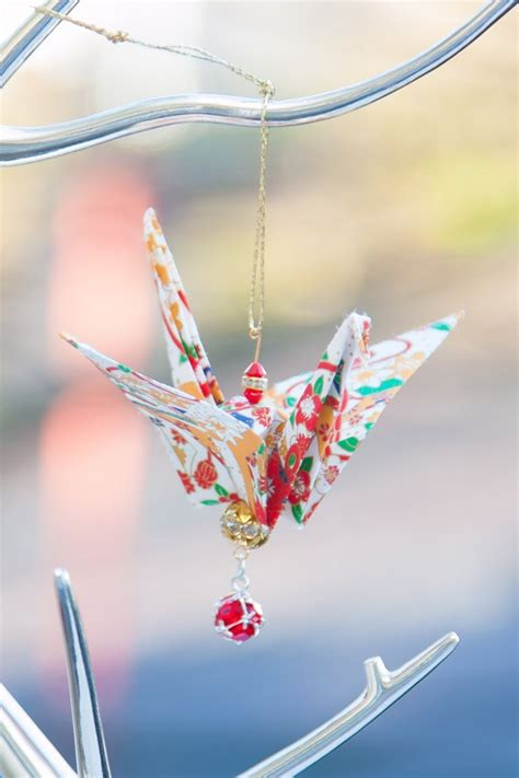 Origami Crane Ornament - colourful beige origami crane ornament origami paper