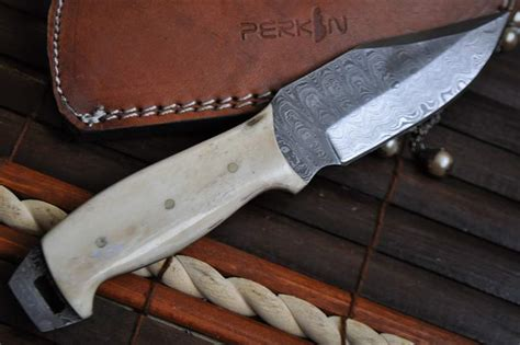 Handmade Bushcraft Knives Uk - custom handmade damascus bushcraft knife mammoth handle