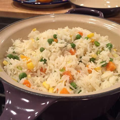 arroz blanco cocinar receta de arroz blanco con verduras recetas de allrecipes
