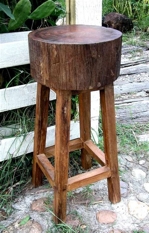 tree trunk bar top rustic all weather stump seat bar stool in teak for the