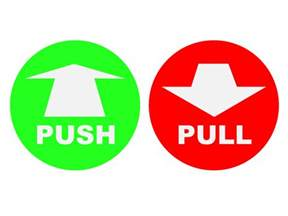 And Pull Icon Visual Alternatives Of Representing The Push