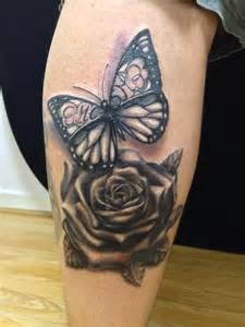 butterfly and rose tattoo by oxymon on deviantart