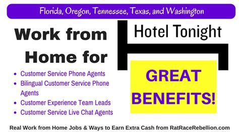 hoteltonight hiring chat phone reps in five states