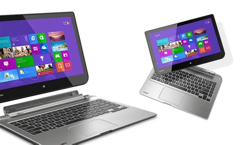 toshiba satellite click 13 3 quot 2 in 1 laptop with 500gb drive groupon