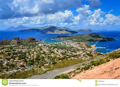 Landscape View Photos Landscape View Of Lipari Islands In Sicily Italy Stock