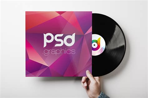 download free vinyl record cover mockup psd template at