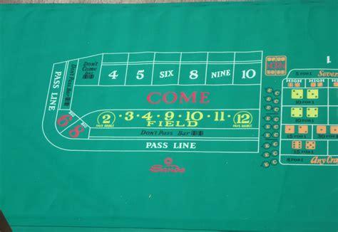 sands casino las vegas authentic craps layout table felt