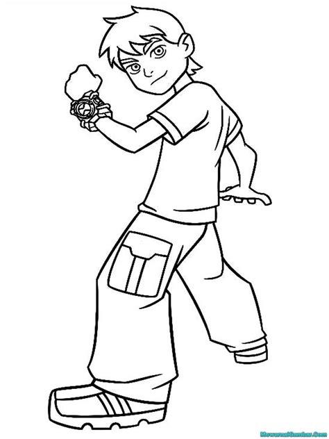 Gambar Kartun Ben 10 Untuk Diwarnai | Mewarnai Gambar