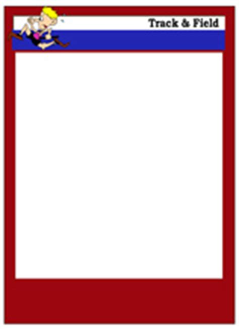 Track Field Card Templates Free Blank Printable Customize Free Baseball Card Template